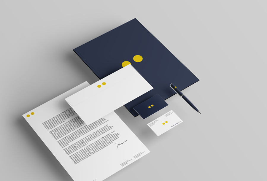 Business card and stationery mockup