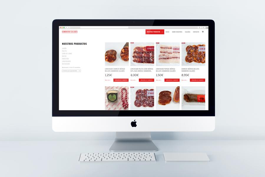 E-commerce of Sombrero Calañés